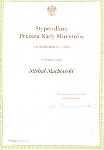 Dyplom Michał Machowski