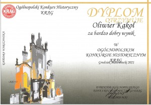 Dyplom Konkurs Krąg Oliwer Kąkol